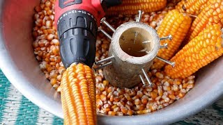 How to Make a simple Corn Sheller at home |DIY