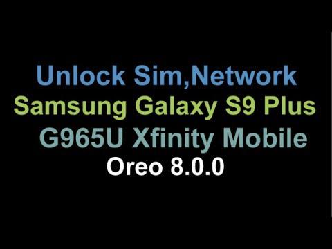 Unlock Network Code Samsung Galaxy S9 Plus Xfinity Mobile G965U USA by  Unlock Phone