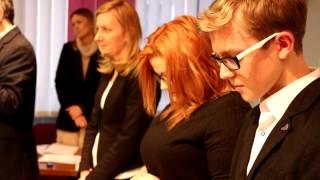 Młodzieżowa Rada Miasta - ślubowanie, pierwsza sesja