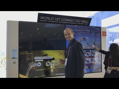 World's First Connected Wall using NFC at Mobile World Congress 2017