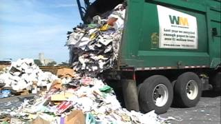 Adventures With Shane: Heil DuraPack Half/Pack Front Loader Dumping at Clayton Ward Recycling Co.