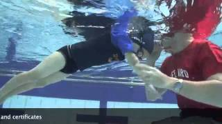 uSwim, Level 3, Skill 2 - Beginner Freestyle arms how to teach your child to swim,.flv
