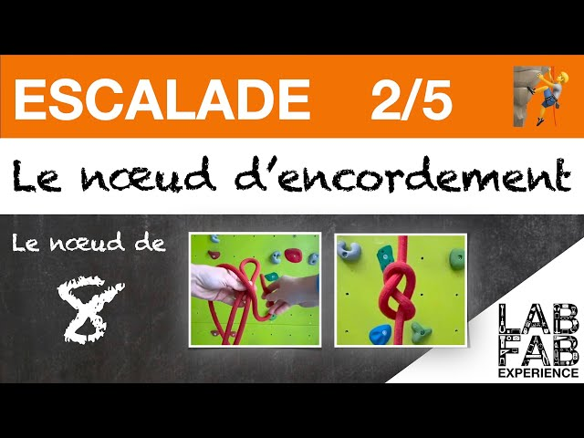 Escalade - Le noeud d'encordement - Partie 2/5 - Comment faire un noeud de 8?
