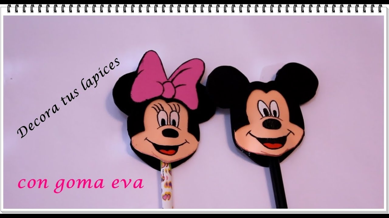 Diy decora tus lapices con goma eva minnie y mickey for Adornos para lapices en goma eva