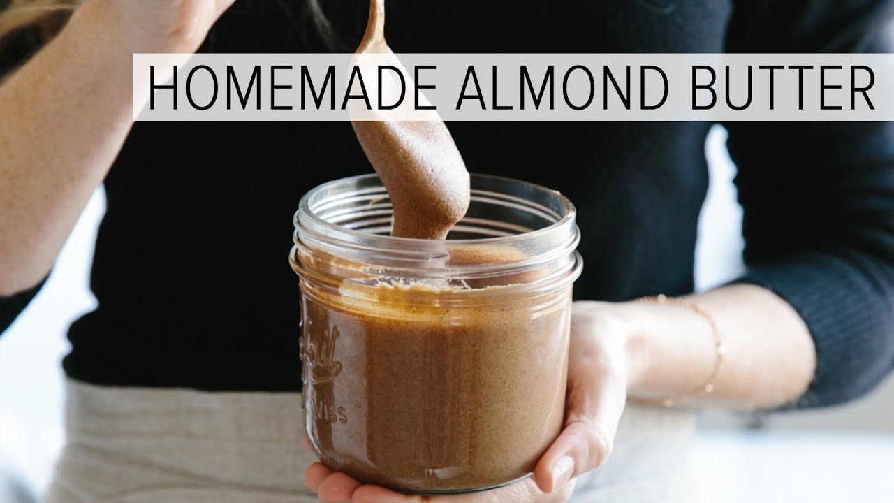 HOW TO MAKE ALMOND BUTTER | easy homemade almond butter in 1-minute