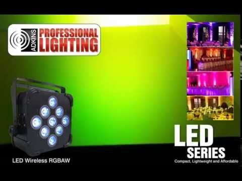 LED Battery Powered Wireless DMX Up Light