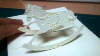 [pop-up Card1]rocking Horse