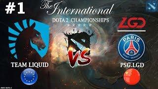 ЗАРУБА за выход в ФИНАЛ! | Liquid vs PSG.LGD #1 (BO3) The International 2019