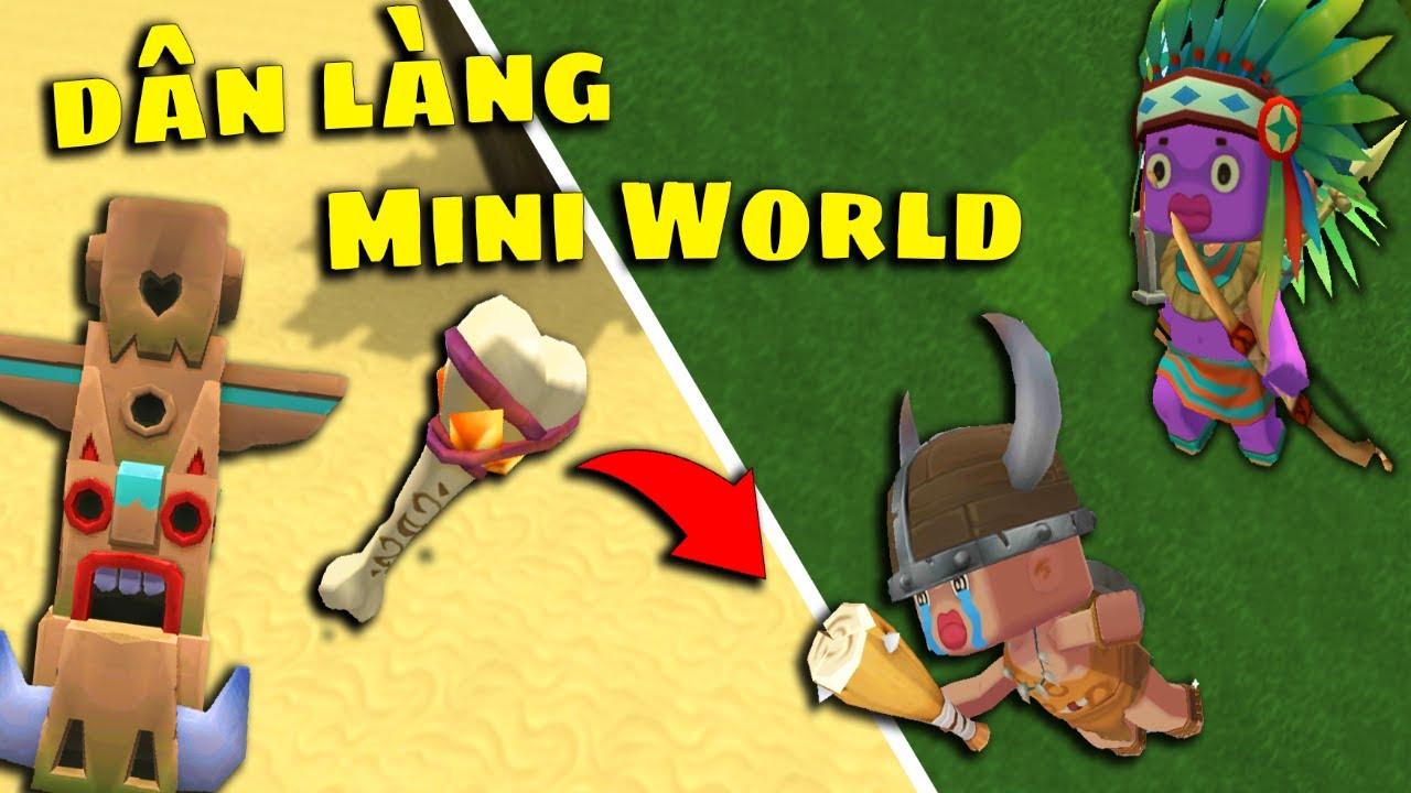 Cách Tạo và Học nghề cho Dân Làng trong Mini World 0.46