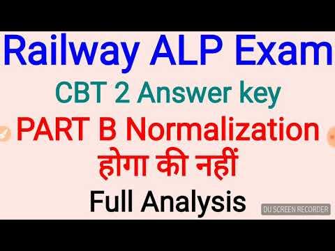 Rrb ALP Part B में normalization होगा की नहीं एक analysis