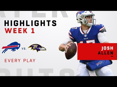 Every Josh Allen Play from NFL Debut!