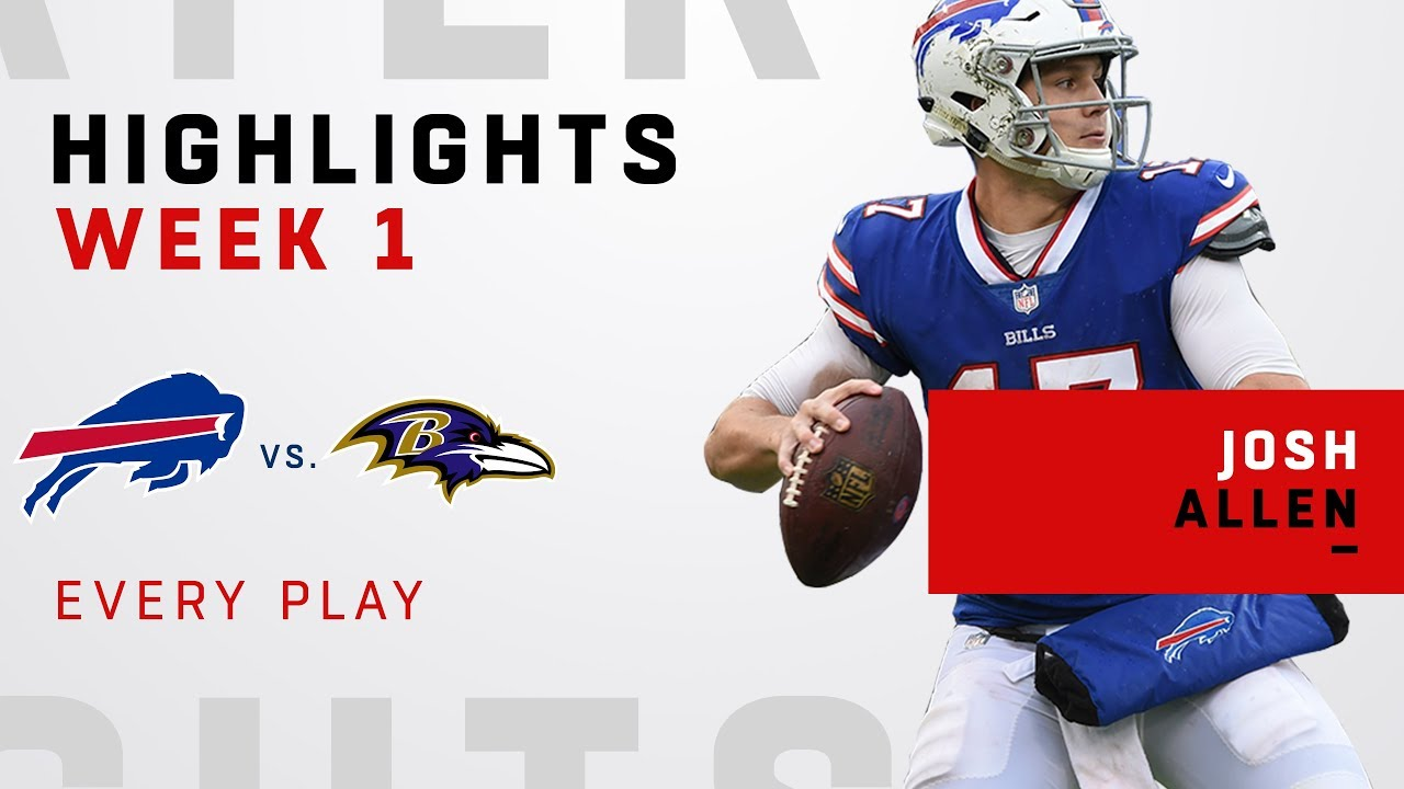low priced 65f6b 52d51 Every Josh Allen Play from NFL Debut!