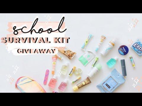 BACK TO SCHOOL ESSENTIALS | DIY SURVIVAL KIT GIVEAWAY |