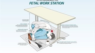 More Office Workers Switching To Fetal Position Desks