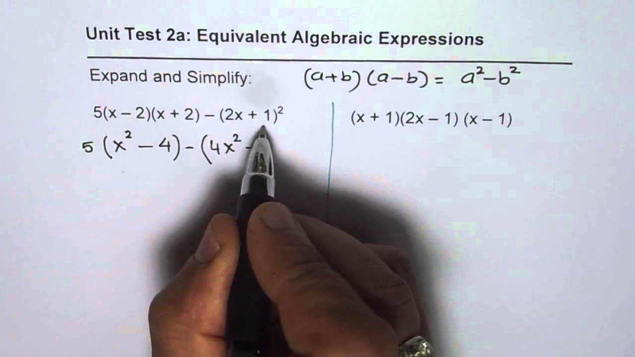 Expand And Simplify Polynomial Expressions