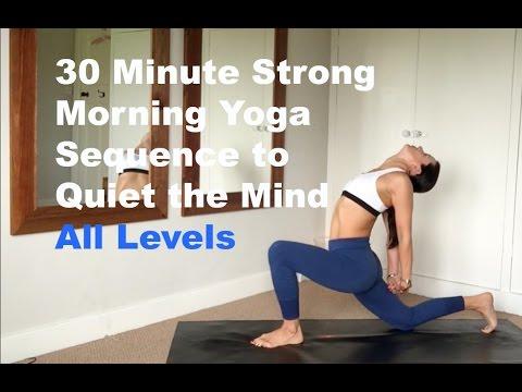 30 min morning power vinyasa yoga sequence  youtube