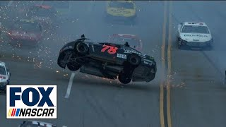 NASCAR Crash at Talladega - Kurt Busch Flips Car at Aaron