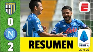 Parma 0-2 Napoli. CHUCKY Lozano decisivo para Gennaro Gattuso. Goles Insigne y Mertens | Serie A