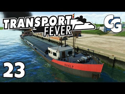 Transport Fever - Ep. 23 - Humongous Cargo Ships - Transport