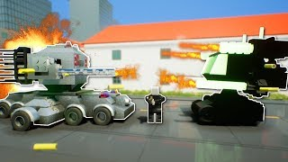 COPS and ROBBERS WITH MECHS?! - Brick Rigs Multiplayer Gameplay - Lego Cops and Robbers Mech Battle
