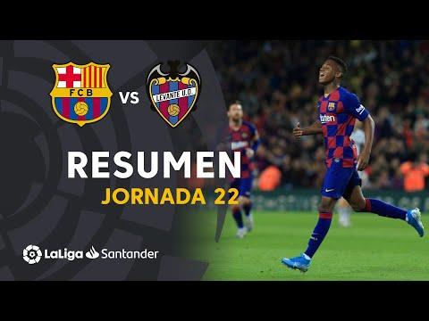 Resumen de FC Barcelona vs Levante UD (2-1)