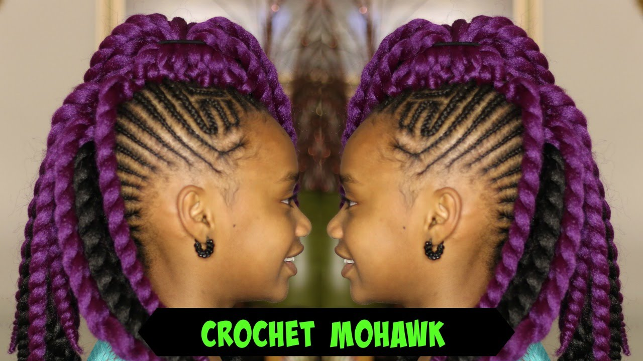 senegalese twist mohawk for adults and kids using sams beauty hair