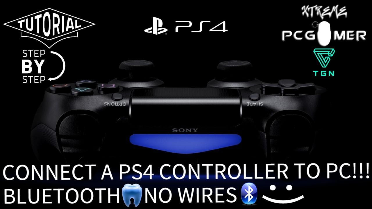 How to connect a PS4 controller to PC(Wireless) (Easiest Way)