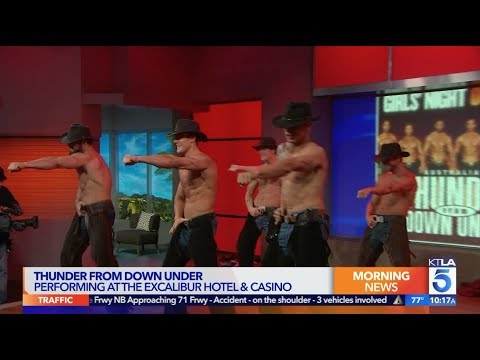 Save a Horse, Ride a Cowboy! Thunder from Down Under Performs Live on Set