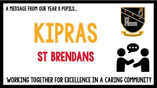Message from our current Year 8 pupils – Kipras