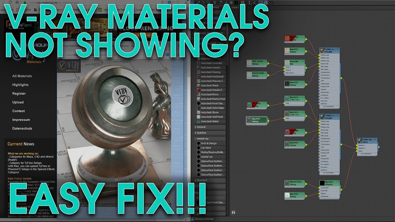 How to Fix Downloaded Vray Materials not Working