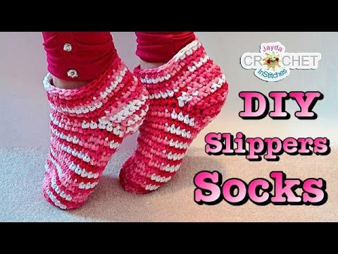 Easy Crochet Slippers or Socks Pattern - YouTube