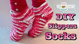 Easy Crochet Slippers / Socks Pattern & Tutorial