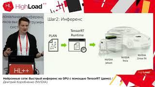 Нейронные сети: быстрый инференс на GPU с помощью TensorRT / Дмитрий Коробченко (NVIDIA)