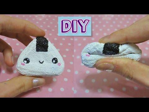 Diy Squishy Things : DIY Onigiri Squishy Tutorial - YouTube