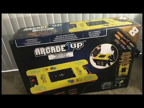 Pac-Man Cocktail Arcade 1UP Unboxing, Build And Review