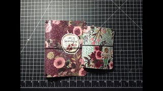 Paper Dori / TN Covers using Faux leather / Vinyl and Decoupage Glue