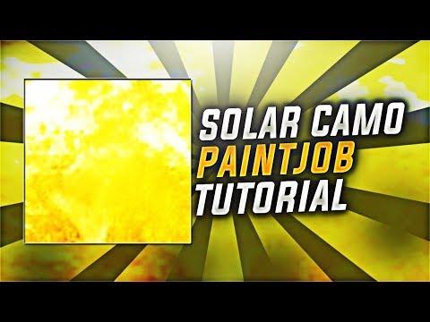 """How To Make """"SOLAR CAMO"""" In COD WW2! COD WW2 SOLAR CAMO PAINT JOB TUTORIAL (WWII SOLAR CAMO)"""