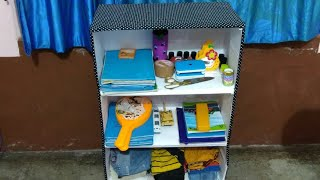 Recycle , best use of waste cartoon boxes,