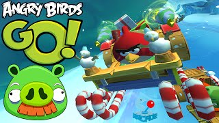 Angry Birds Go! Red Bird vs Bubbles and Bad Piggies Foreman Pig