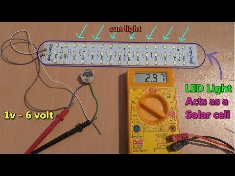 Solar Energy - LED lights Acts as a Solar cells