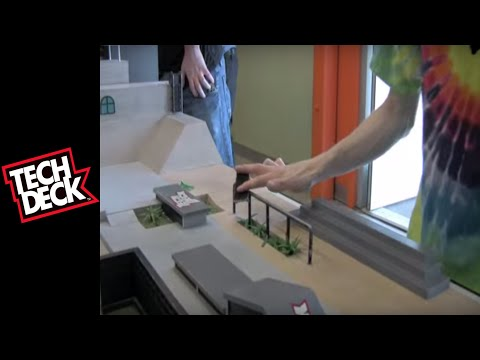 Professional Fingerboarders Session At The Tech Deck Office
