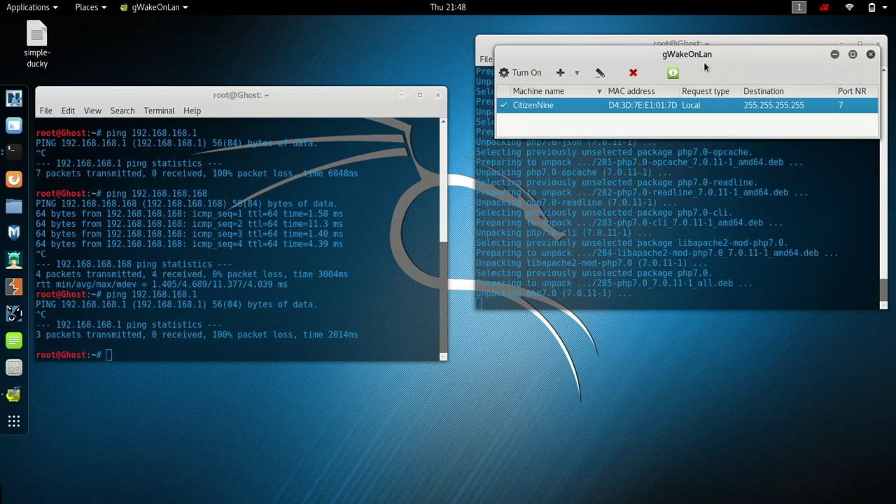 Kali Linux WOL, RDP, and SSH to Windows 10