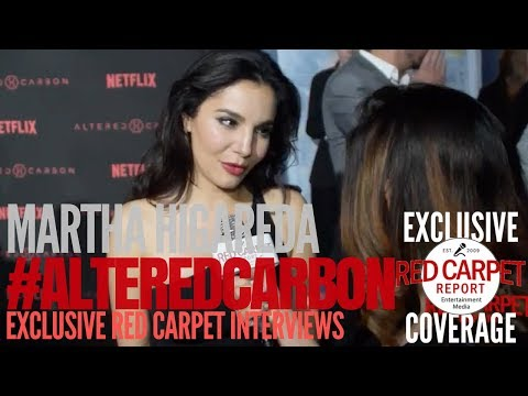 Martha Higareda interviewed at Premiere of Netflix's #AlteredCarbon #NowStreaming #AltCarb