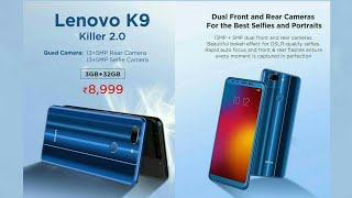 Lenovo K9 review and first look specifications Lenovo K9 Smartphone.