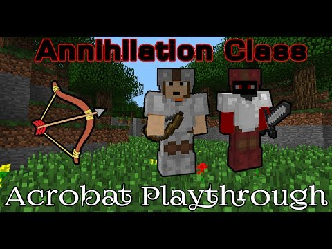 Minecraft Annihilation Class - Acrobat Playthrough
