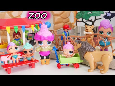 LOL Surprise Doll New Baby Animals Zoo Playmobil Barbie Doctor Visit My Little Rarity Morning Party!
