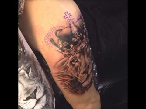 Lion king portrait tattoo timelapse, by Kimmo Angervaniva