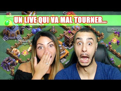 LIVE AVEC MADAME REISE... CA TOURNE MAL !! CLASH OF CLANS