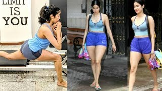 Jhanvi Kapoor HEAVY Pilates Workout For Upcoming Movie Kargil Girl