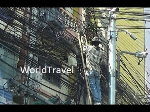 Wires, wires, and more wires, Thailand's telephone wires look like a rats nest.
